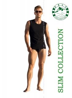 Koszulka męska bez rękawów Self SLIM F.018